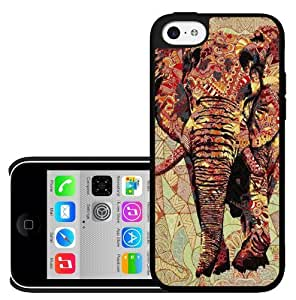 70's Print Elephant Hard Snap on Case (iPhone 5c) by lolosakes