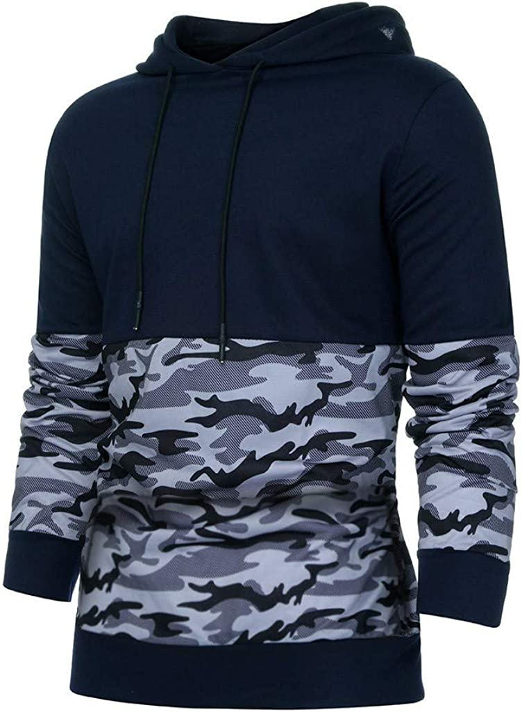 Mens Camo Hoodie Pullover Mens Full-Zip Hooded Sweatshirt Jackets Casual Sport Hooded Sweatshirt