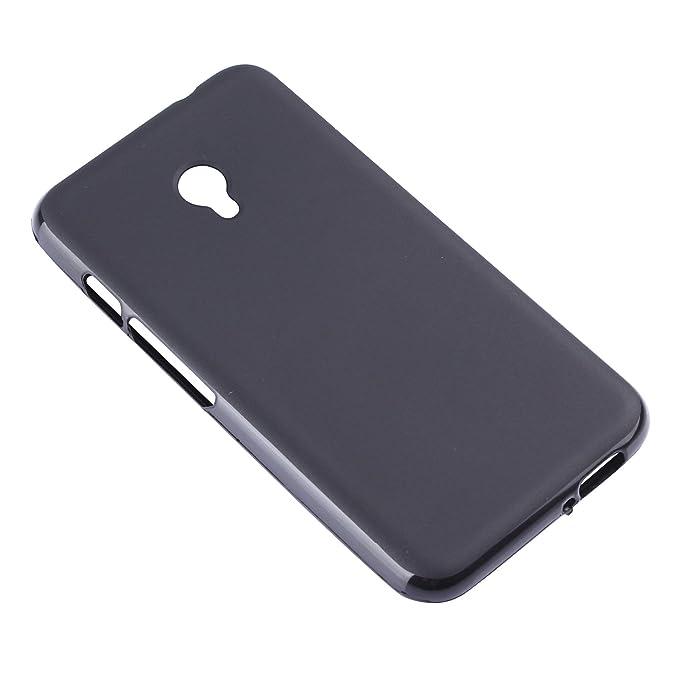 Lusee® Funda de silicona para Vodafone Smart Turbo 7 VFD500 Suave Cascara TPU negro: Amazon.es: Electrónica