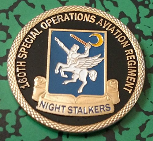 US Army 160th Special Operations Aviation Regiment Nightstalkers Colorized Challenge Art Coin
