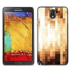X-ray Impreso colorido protector duro espalda Funda piel de Shell para SAMSUNG Galaxy Note 3 III / N9000 / N9005 - Pixelated Art Pattern Checkered