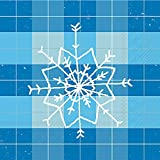 Ideal Home Range 20 Count Cocktail Napkins, Mad for Plaid Snowflake