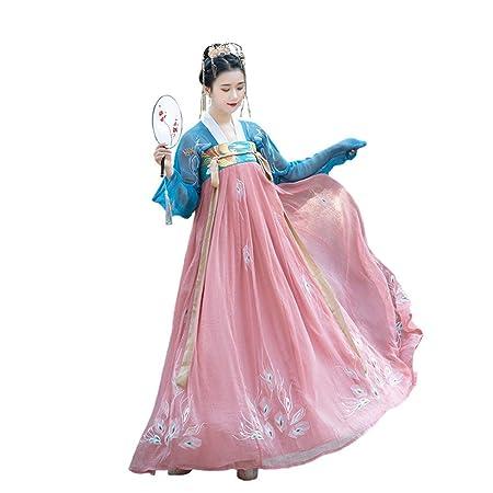 YCWY Vestido Chino Antiguo para Mujer, Tradicional Bordado Hanfu ...