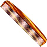 "Kent 7T 5 1/2"" 139mm Hand-Made All Fine Teeth Pocket Comb for Men and Women Sawcut Cellulose Acetate."