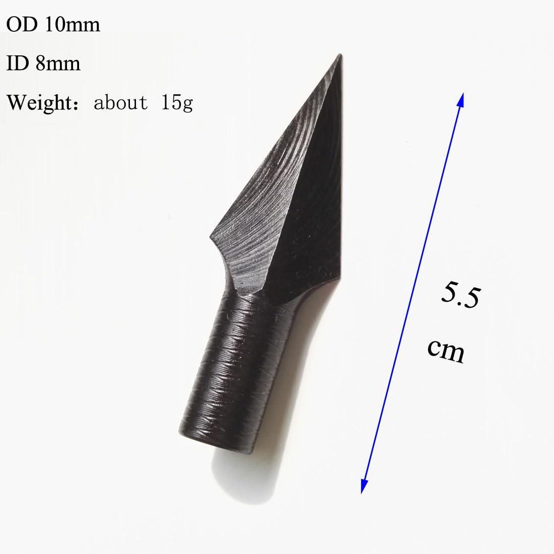 SHARROW 6pcs Pointe de Fl/èche de Tir /à larc Chasse Broadheads ID 8mm pour Fl/èches en Bois Bambou