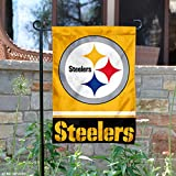 Pittsburgh Steelers Gold Double Sided Garden Flag