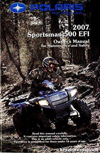- 9920364 2007 Polaris Sportsman 500 EFI ATV Owners Manual
