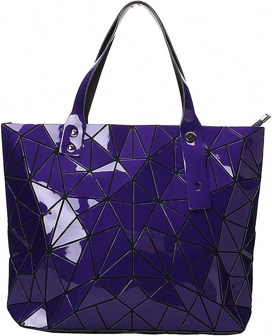 Geometric Lattice Top-handle Handbag for Women Matte Tote Purse Handbags Geometry Shoulder Bag