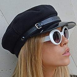 RACEU ATELIER Gorra Mujer ZOE- Gorra marinera - Hecha en lana - Sombreros  Mujer 8ac66e423e3
