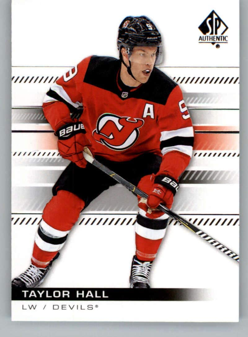 Amazon Com 2019 20 Sp Authentic Hockey 86 Taylor Hall New Jersey Devils Official Nhl Hockey Card From The Ud Company Collectibles Fine Art