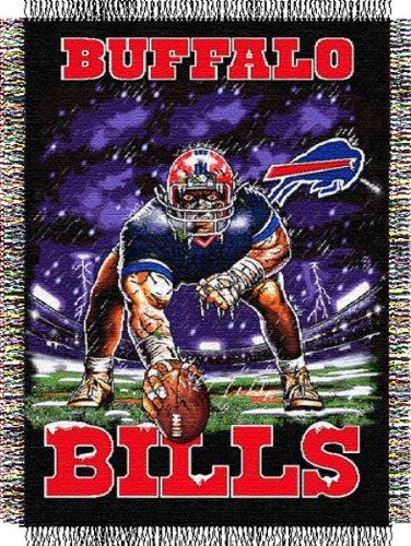 The Northwest Company Buffalo Bills Three Point Stance Woven Tapestry Throw Acrylic Buffalo Bills Blanket