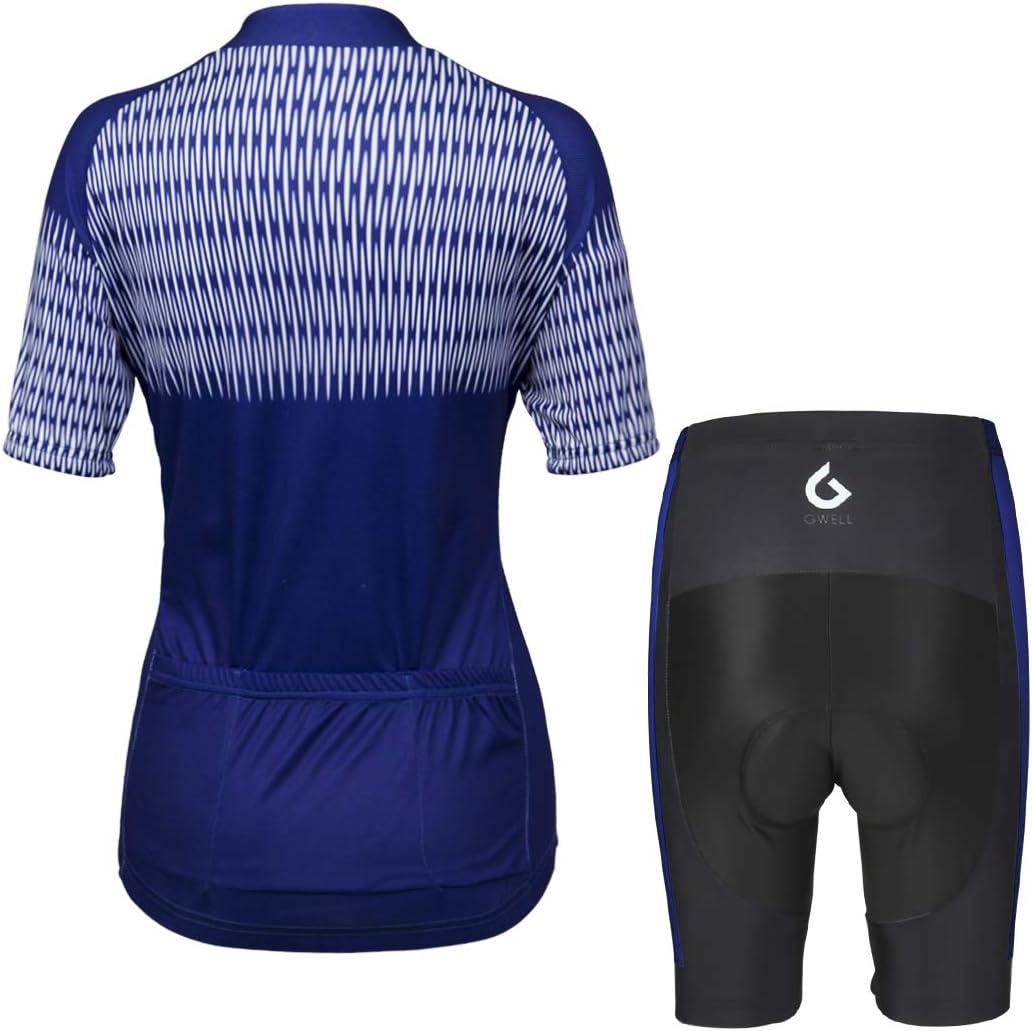 GWELL Maillot Ciclismo Mujer Cclismo Conjunto de Ropa + Culote ...