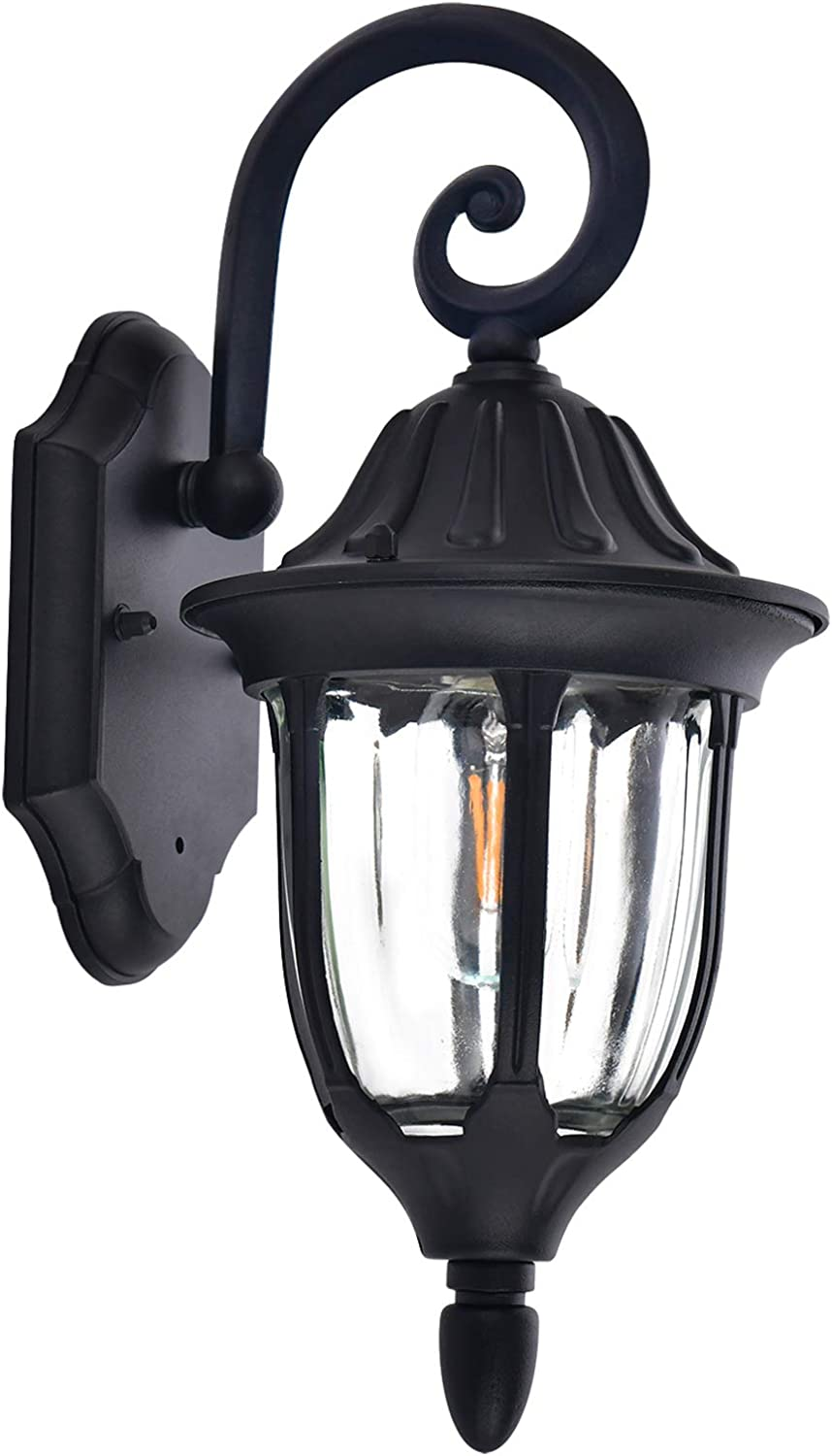 Outdoor Wall Lantern Waterproof Anti-Rust Sconce Porch Light Retro Lighting Fixture Exterior Porch Bulb Not Included Garage Vintage Wall Mount Light for Doorway