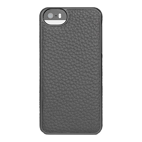 new product cabb5 28464 ADOPTED Leather Wrap Case for iPhone 5 / 5s Pewter / Gunmetal