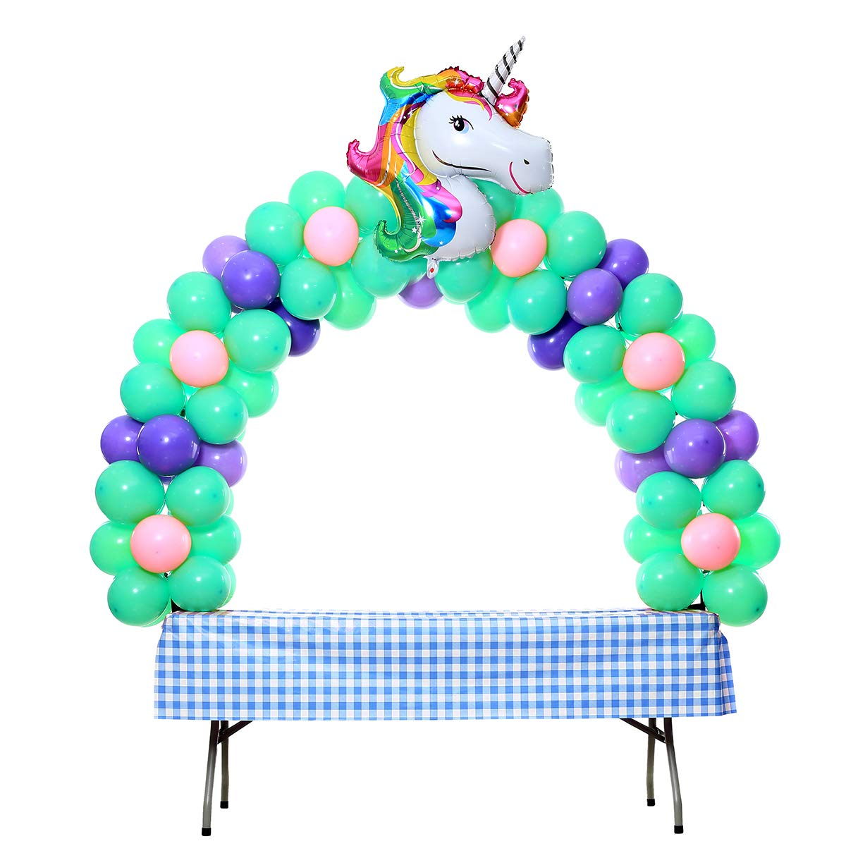 Balloon Arch Kit Adjustable for Different Table Sizes Birthday, Wedding, Christmas, and Graduation Party