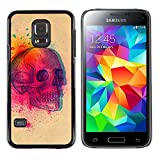 UPPERHAND ( NOT FOR S5 Regular )Stylish Image Picture Smartphone Hard Rugged Case Cover For Samsung Galaxy S5 Mini, SM-G800 - colorful explosion skull butterfly skull