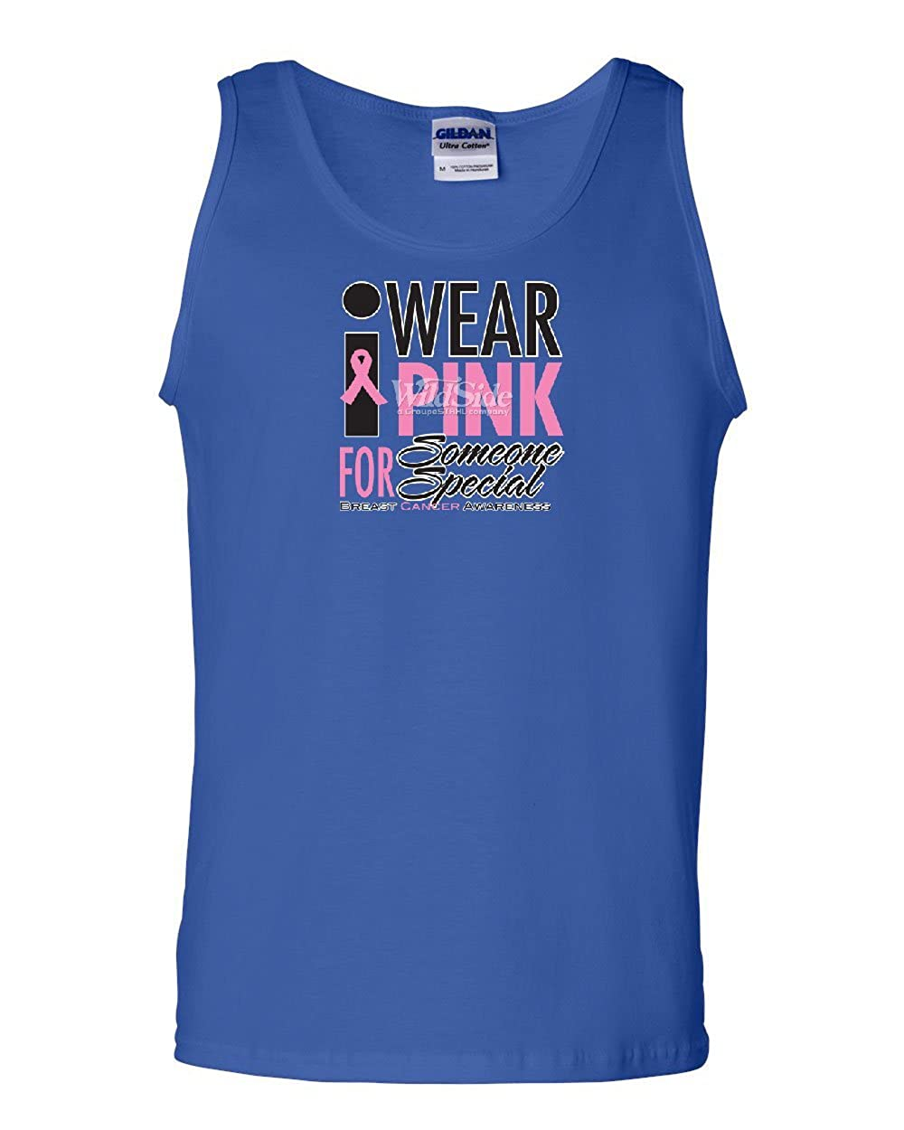 Tee Hunt I Wear Pink for Someone Special Tank Top Breast Cancer Awareness Sleeveless
