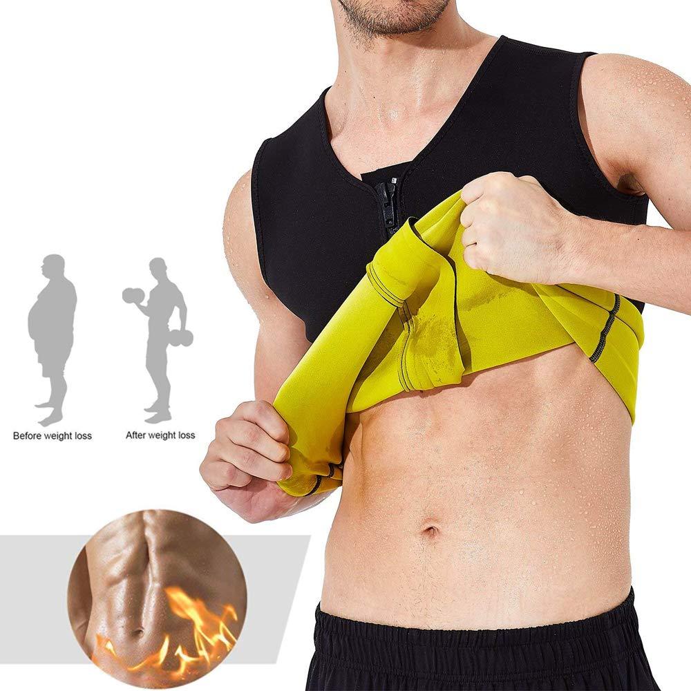 Bon pour Shaper Corps//Perte de Poids//Costume Thermo-Sauna//Fat Burners FF Health Hommes Gilet de Sauna N/éopr/ène