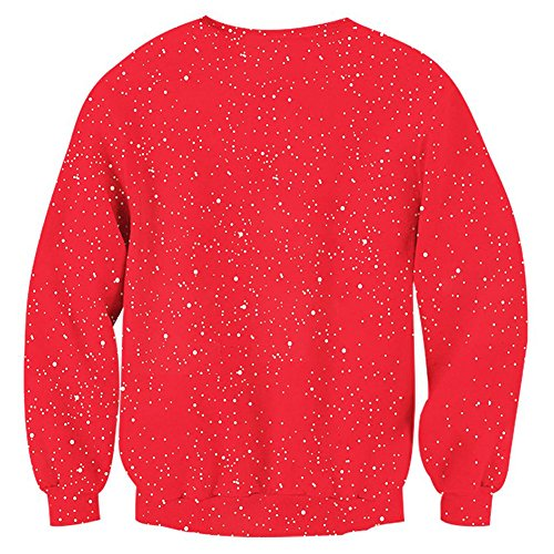 RAISEVERN Unisex Ugly Christmas Sweatshirt Funny Design Pullover Sweater for Xmas Holiday Party