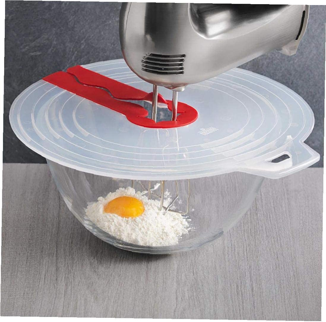 Ruijanjy 1Pcs Mixer Splatter Guard Egg Bowl Whisks Screen Cover Baking Splash Guard Bowl Lids Kitchen Cooking Tools