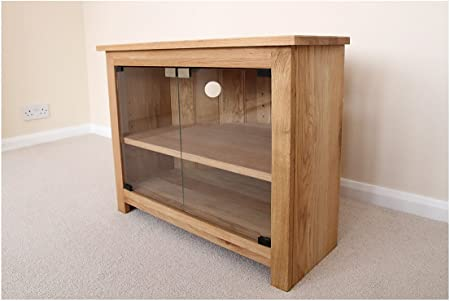 Oak corner tv unit with glass doors stand or cabinet 750mm with oak corner tv unit with glass doors stand or cabinet 750mm with adjustable shelf planetlyrics Images