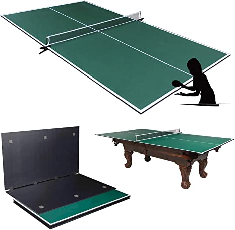 Amazon Com Picotech Portable Ping Pong Table Topper For Pool Table Indoor Table Tennis Conversion Top Ping Pong Play 4 Pcs Foldable Clamp Net Post Scratch Resistant Space Save For Home