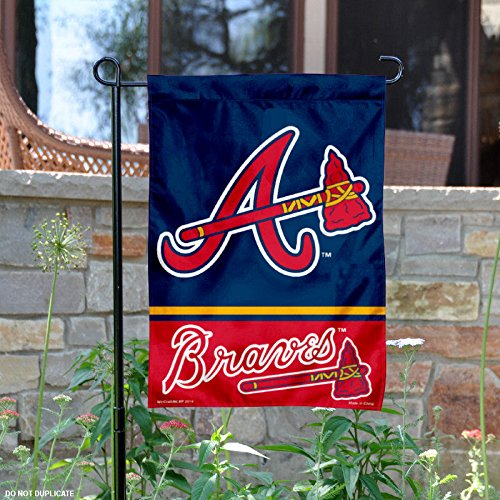 WinCraft Atlanta Braves Double Sided Garden Flag