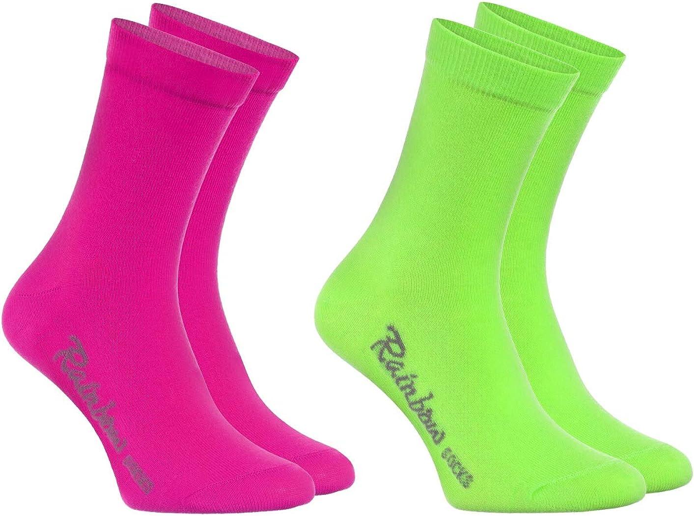 Calcetines de Algod/ón Ni/ños y Ni/ñas Rainbow Socks