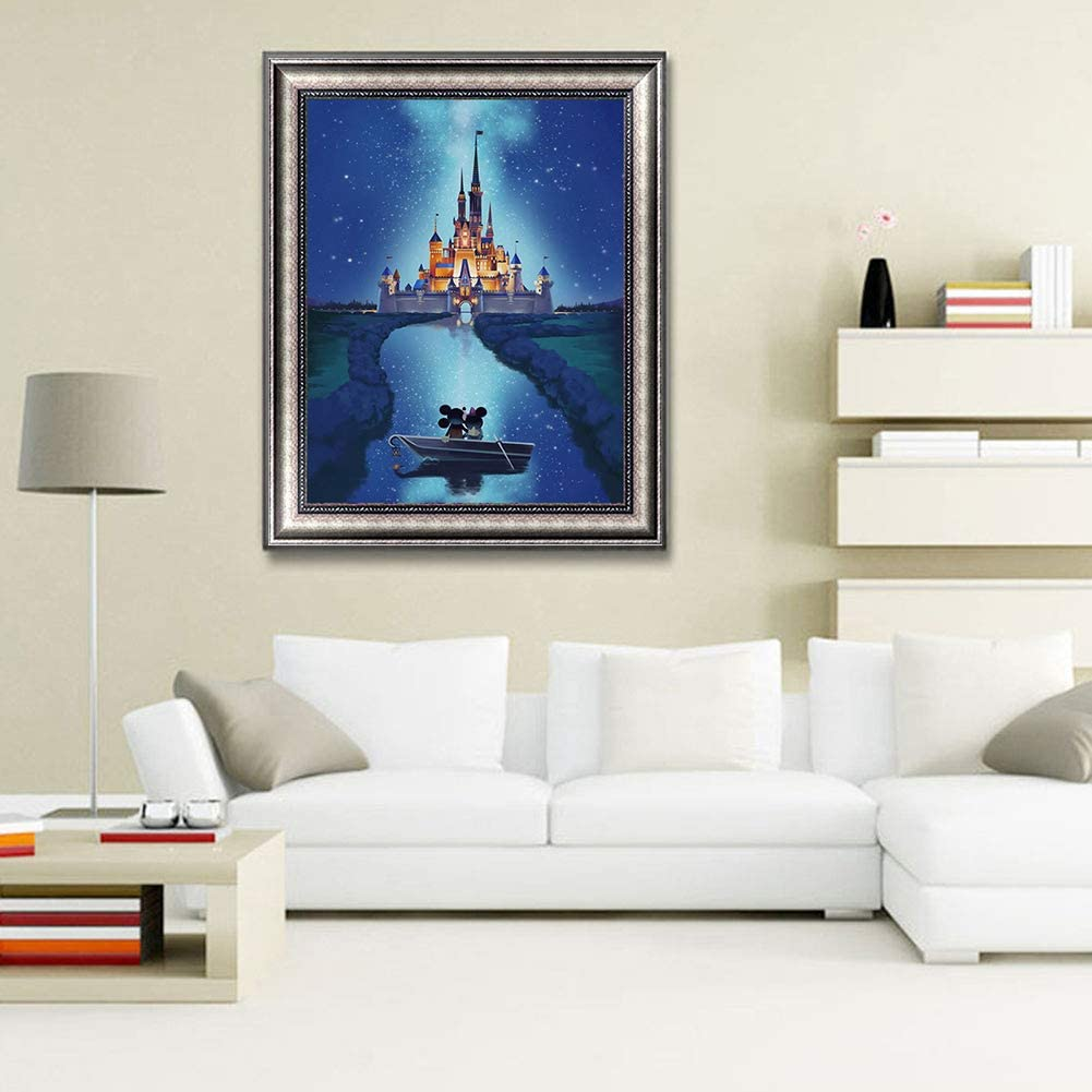 DIY 5D Diamond Painting by Number Kits Castle Crystal Rhinestone Diamond Embroidery Paintings Pictures Arts Craft for Home Wall Decor