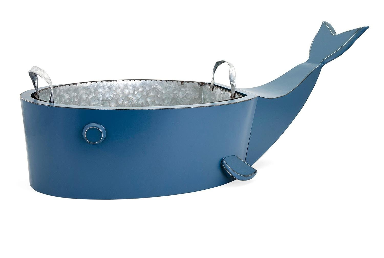 37'' Blue ''Wilson'' Whale Decorative Drink Holding Bucket