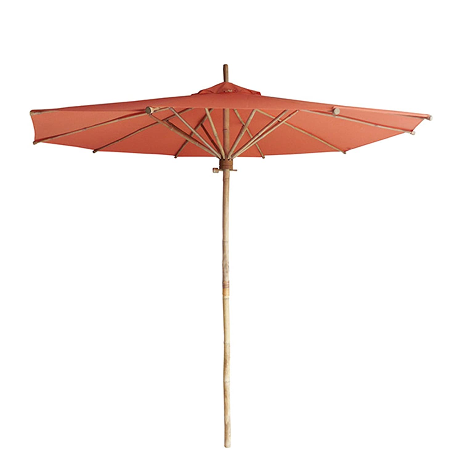 Amazon Com Phat Tommy Bamboo 7 Ft Outdoor Market Umbrella For