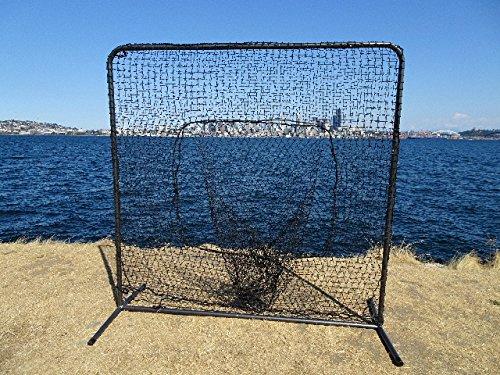7'x7' Baseball Softball Catch Net Protective Screen Kit w/ Net & Frame Sock Net by Pelican Sports