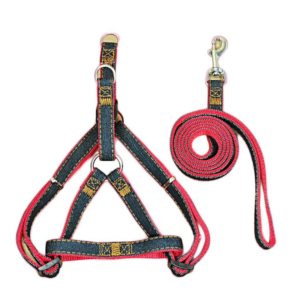 Red L Red L LZRZBH Pet Supplies Dog Chain Pet Rope Small Dog Pet Chest Strap Dog Leash Rope Cat Chain Teddy Dog Leash Rope Length 120cm (color   Red, Size   L)