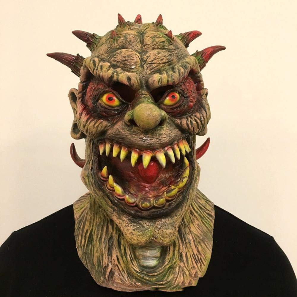 Circlefly Ruolo di film mutante maschera mostro Halloween Horror Gioca dress up demone lattice spaventoso di puntelli parrucca