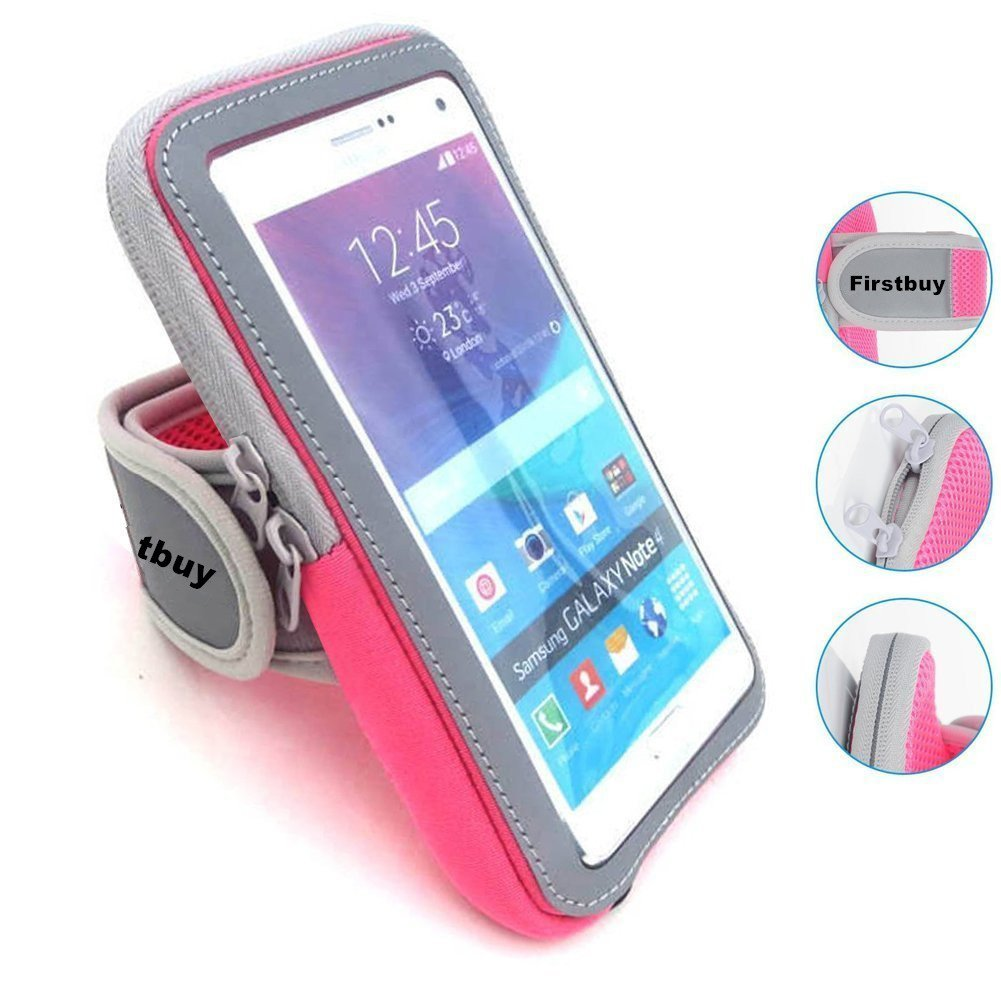 Sports Armband,Firstbuy GYM Fitness Phone case Sweatproof Running Armband For Outdoor Sports,Key Holder,Wallet Card Slot,Fit for iPhone7Plus/7/6sPlus /6Plus/Samsung Galaxy S6/S7 Edge,Up To 5.5 Inch