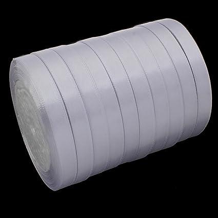 Perlin Satinband (Doppelsatinband) 22 m x 10mm Weiss Schleifenband DEKOBAND GESCHENKBAND SCHMUCKBAND C272