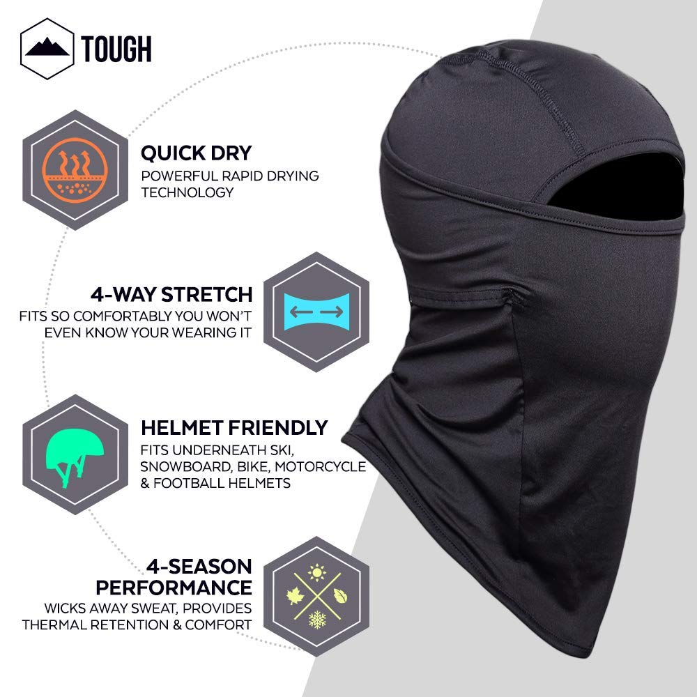 Motorcycling /& Winter Sports Windproof Ski Mask Ultimate Protection from The Elements Cold Weather Face Mask for Skiing Tough Headwear Balaclava Fits Under Helmets Snowboarding