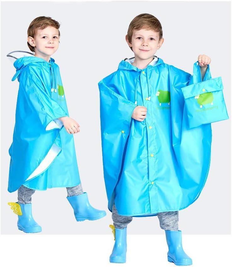12 Anni Cmboom Impermeabile Bambino Pioggia Unisex Impermeabile Coprizaino Poncho Giacca Protezione con Cappuccio per Ragazze /& Ragazzi 3