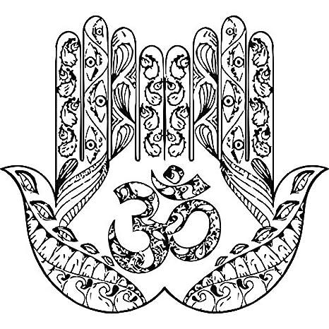 Mano Tatuaje de pared Yoga Arte Fátima Hamsa indio Ganesh Buda ...