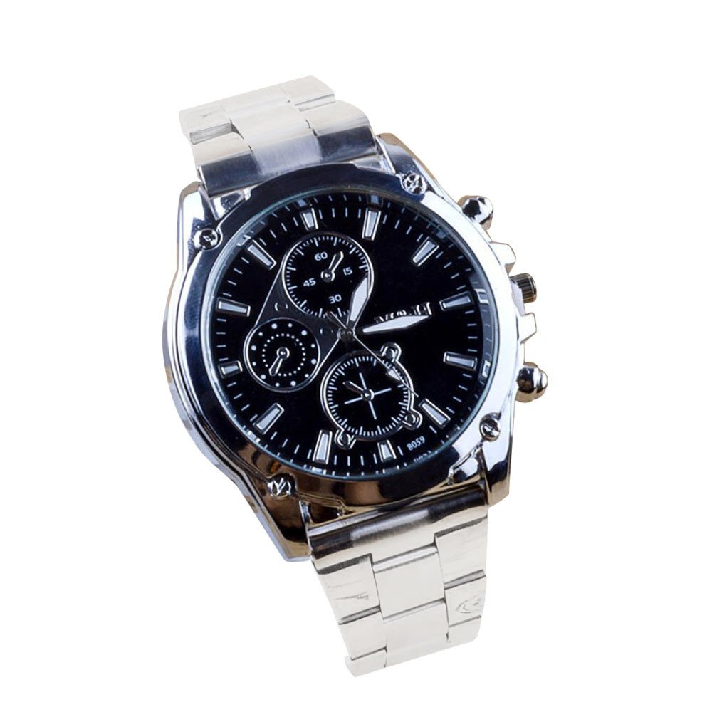 Business À Propos de la Montre de Quartz de Machines de Bande dacier Inoxydable dhommes LEEDY (Blanc): Amazon.fr: Montres