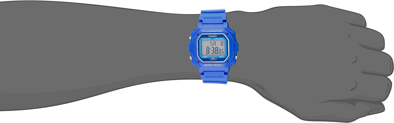 Casio F108WH Etanche Digitale Bleu Resen Montre Bracelet
