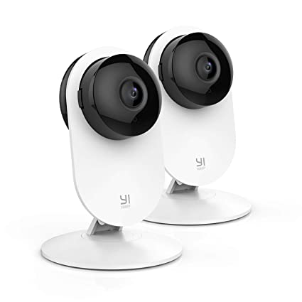 YI Cámara de Vigilancia 1080p IP Cámara WiFi con Micrófono y Altavoz, Visión Nocturna,