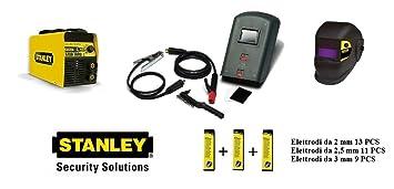 Stanley 7000 - Soldador inverter de 200 amperios. Alimentación de 230 V + Máscara LCD