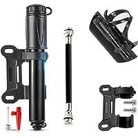 Mini fietspomp luchtpomp fiets framepomp - 160 psi hoge lichte kleine fietspomp voor alle ventielen (Presta/Schrader…