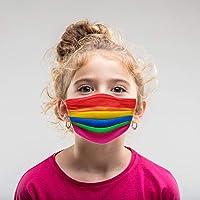50Pcs Children's 3-ply Face Mouth Mask,Colorful Print Disposable_Face_Masks for Kids, Kid Disposable Children Face…