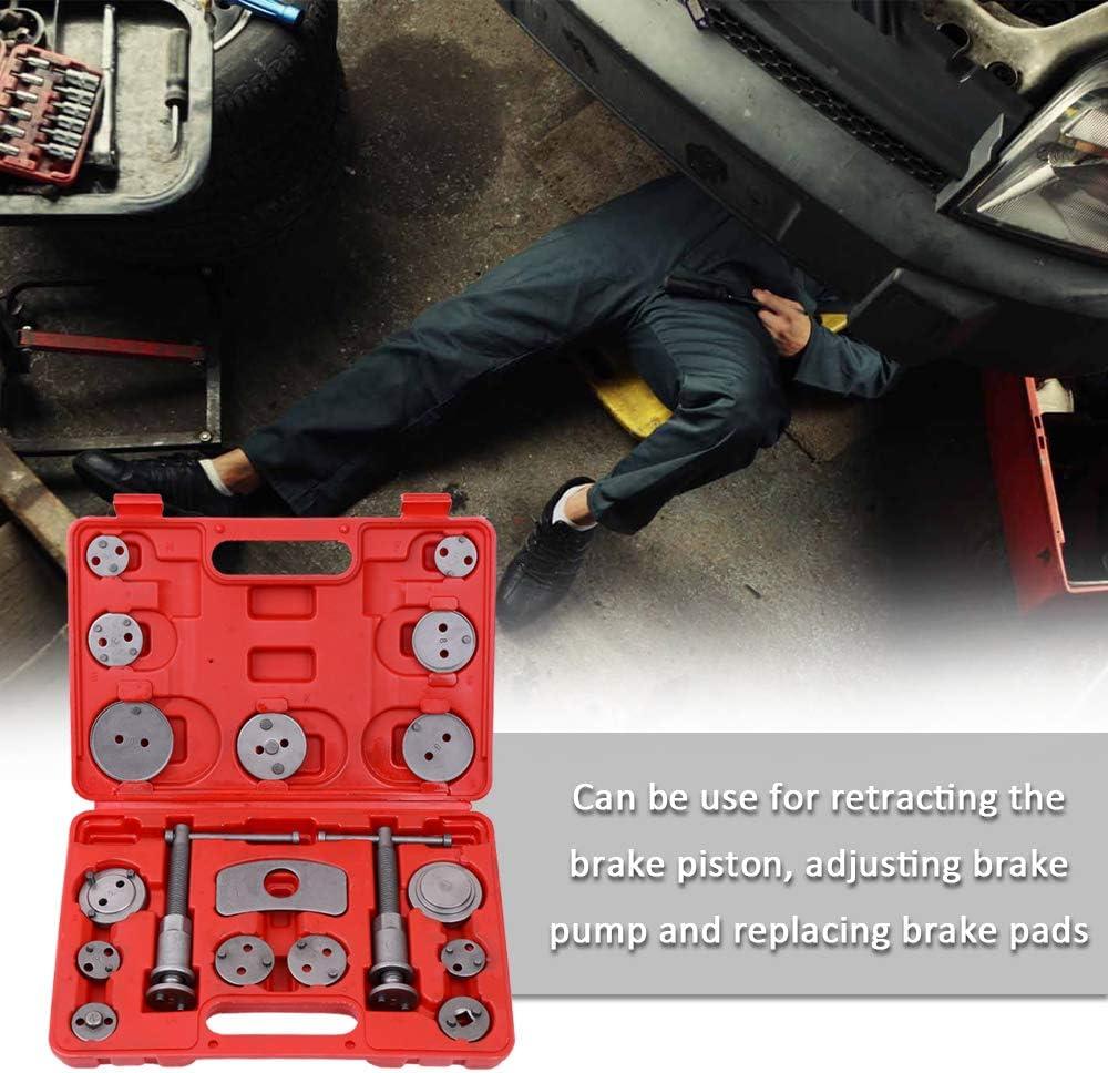 KKmoon 18pcs Auto Universal Disc Brake Caliper Car Wind Back Pad Piston Compressor Automobile Garage Repair Tool Kit Set with Case