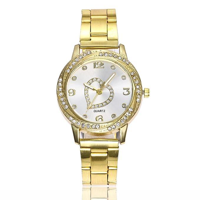 DressLksnf Reloj con Diamante Lujo Moda de Mujer Pulsera Deportiva ...