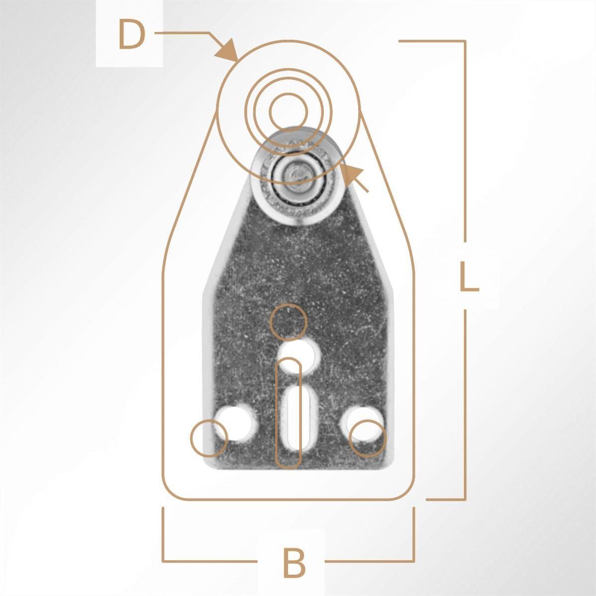 LYSEL Laufrolle F/ührungsrollen Laufwagen Rollenlaufwerk verzinkt mit Kugellager f/ür Laufschiene 25x19mm Schiebetor 1 St/ück