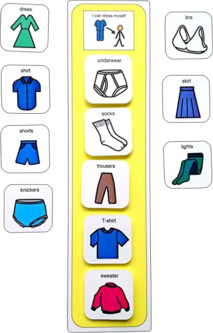 amazon com autism supplies and developments pecs getting dressed