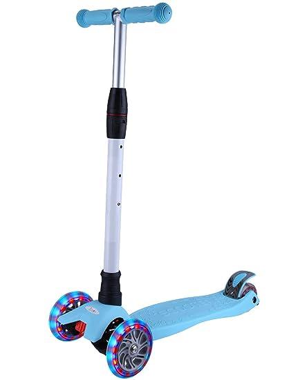 Amazon.com: Yuppy - Patinete de 3 ruedas para niños Lean to ...